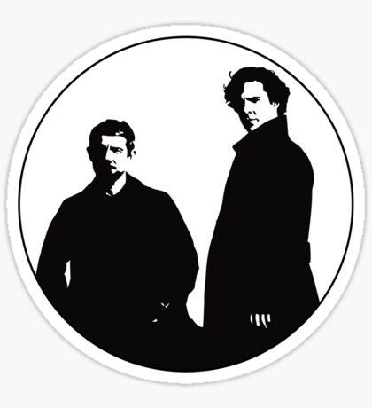 Sherlock & John Sticker