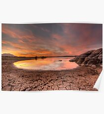 Evaporating Sunset Poster