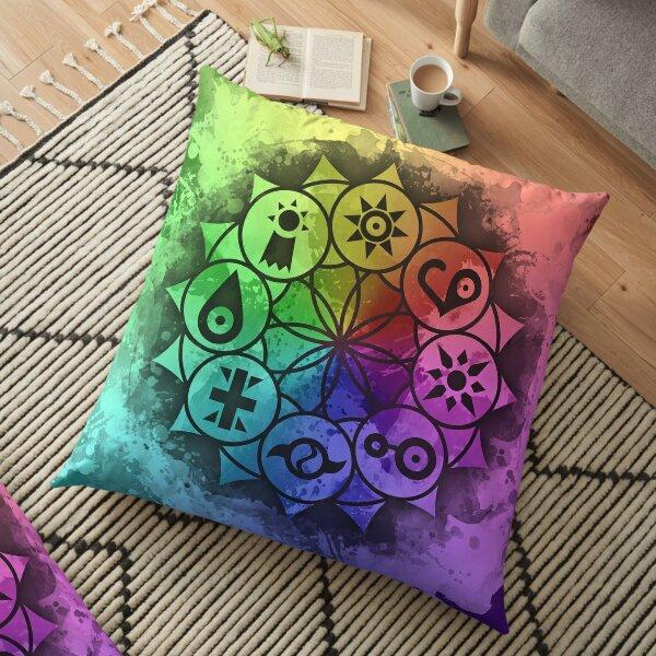 Digimon Mandala Paint Floor Pillow