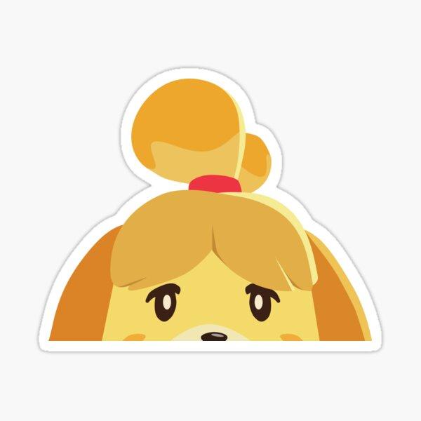 Isabelle Animal Crossing Peeker Pegatina