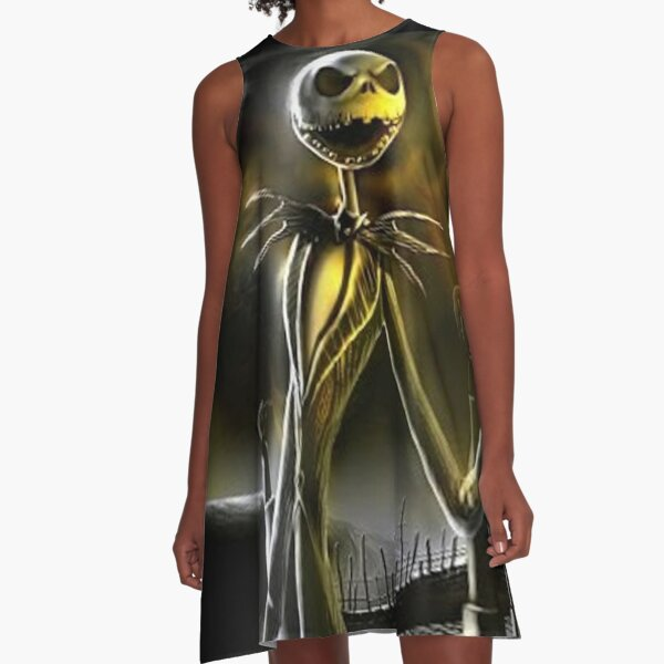 Jack Skellington at the graveyard The Night Before Christmas official design A-Line Dress