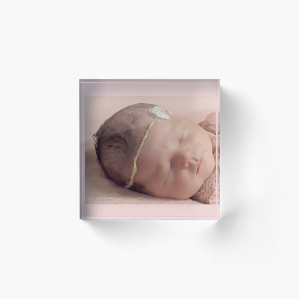 Peaceful Sleeping Baby Acrylic Block