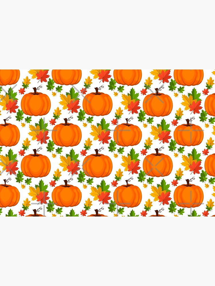 Face mask autumn leaves pumpkin sweet pattern protection Mask by Unex