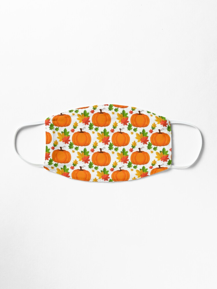 Alternate view of Face mask autumn leaves pumpkin sweet pattern protection Mask Mask