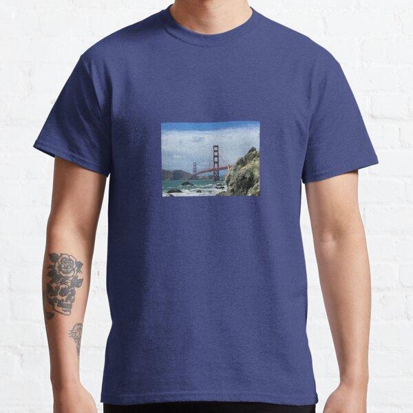 Golden Gate Bridge With Rocks Classic T-Shirt