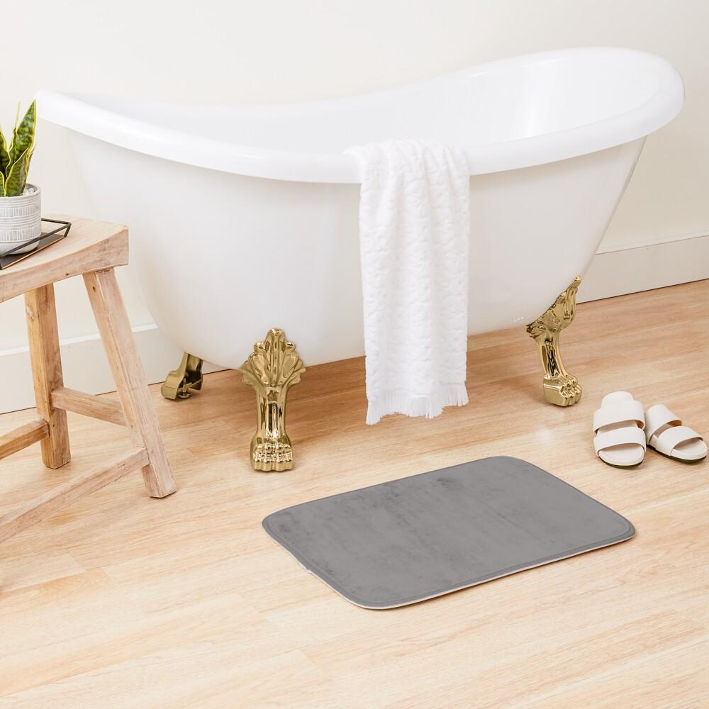 Grey Dovecote Solid Summer Party Color Bath Mat