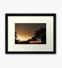 Suburban Sunrise  Framed Print