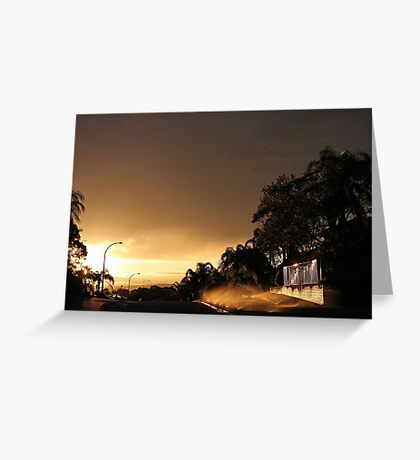 Suburban Sunrise  Greeting Card