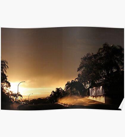 Suburban Sunrise  Poster