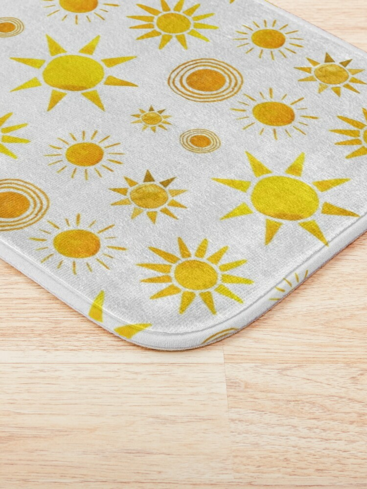 Alternate view of Here Comes the Sun! Bath Mat