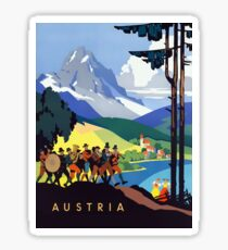Austria Vintage Travel Advertisement		 Sticker