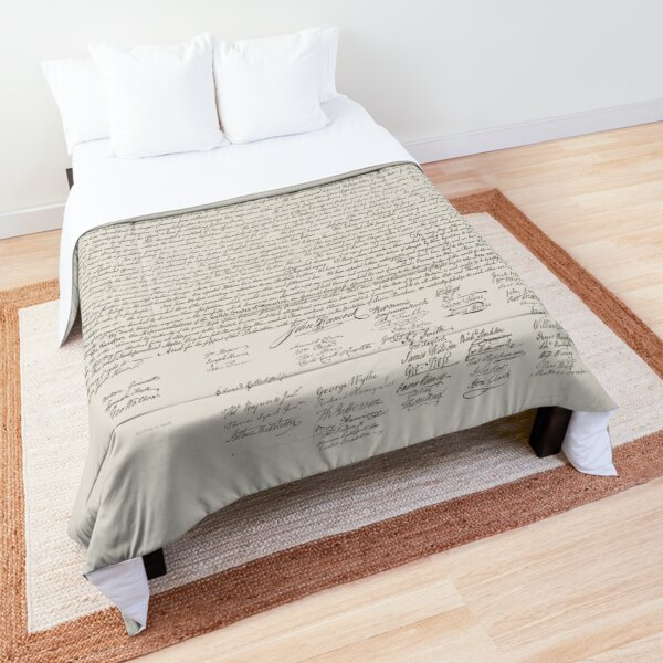 United States Declaration of Independence Comforter
