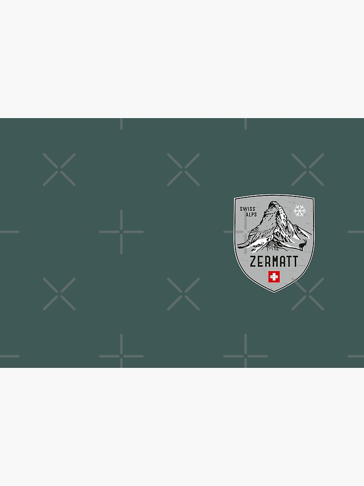 Zermatt Mountain Switzerland Emblem  by posay
