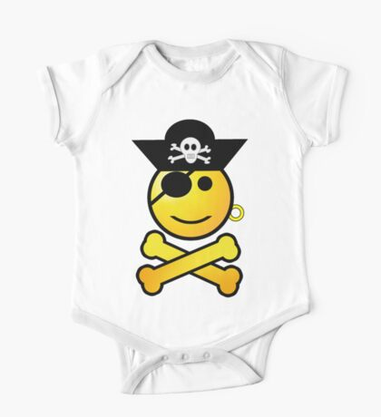 Pirate Emoticon - Smiling Kids Clothes