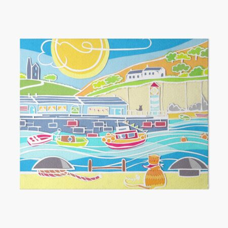 The Harbour Cat Art Board Print