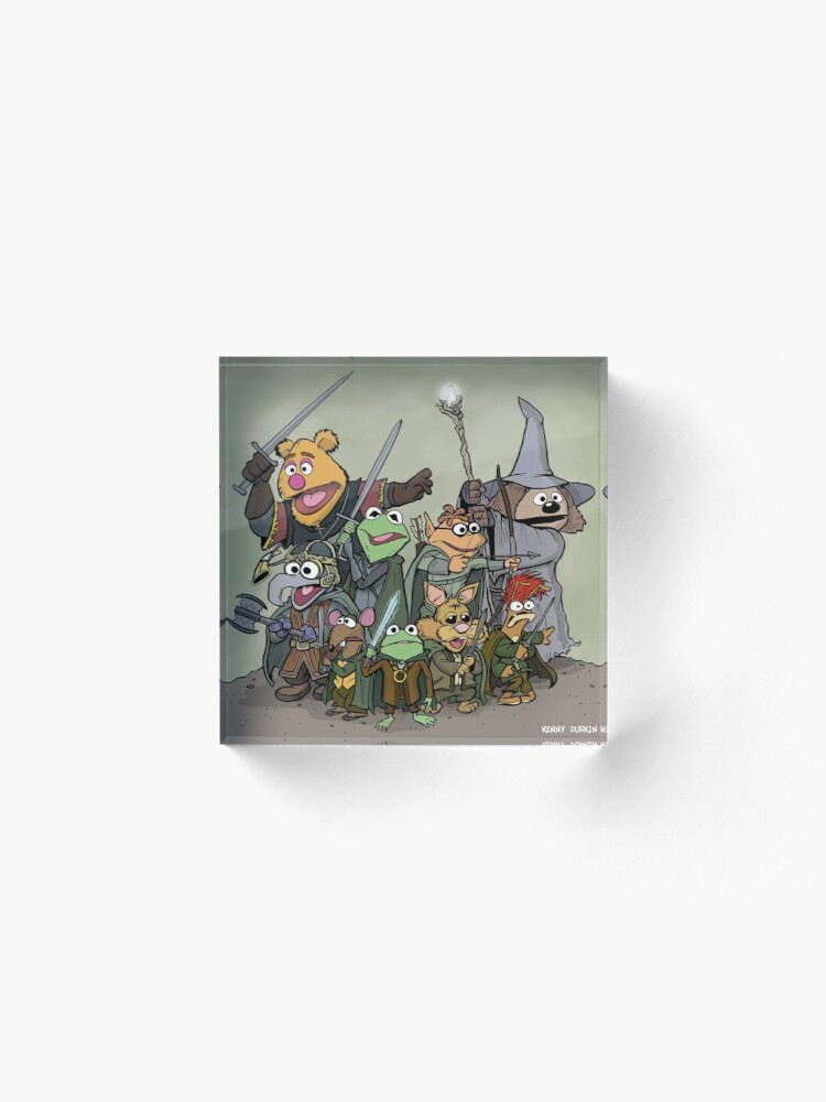 Alternate view of Fellowship of the Muppets Acrylic Block
