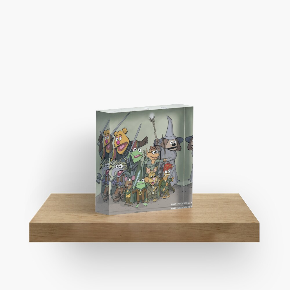 Fellowship of the Muppets Acrylic Block