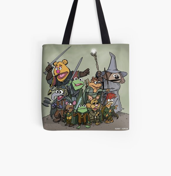 Fellowship of the Muppets All Over Print Tote Bag