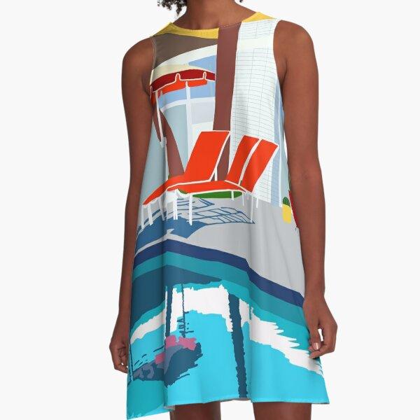 Mid Century Poolside A-Line Dress