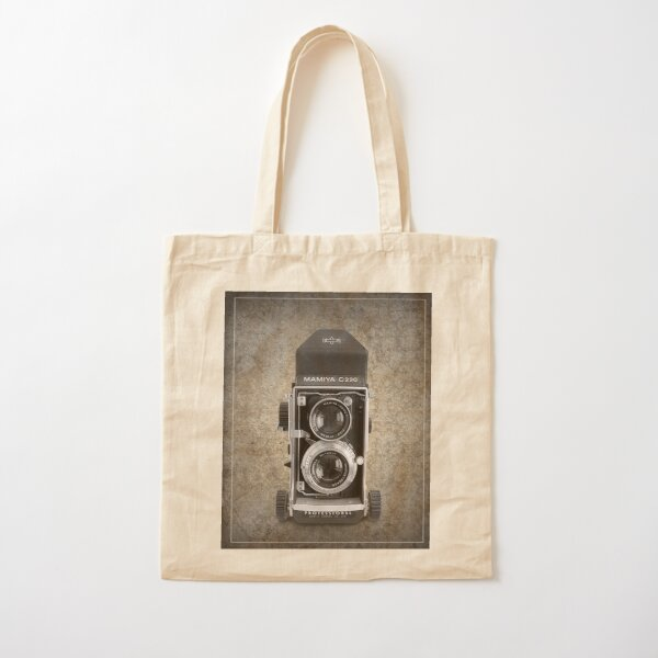 Mamiya C220 - Vintage Black and White Cotton Tote Bag