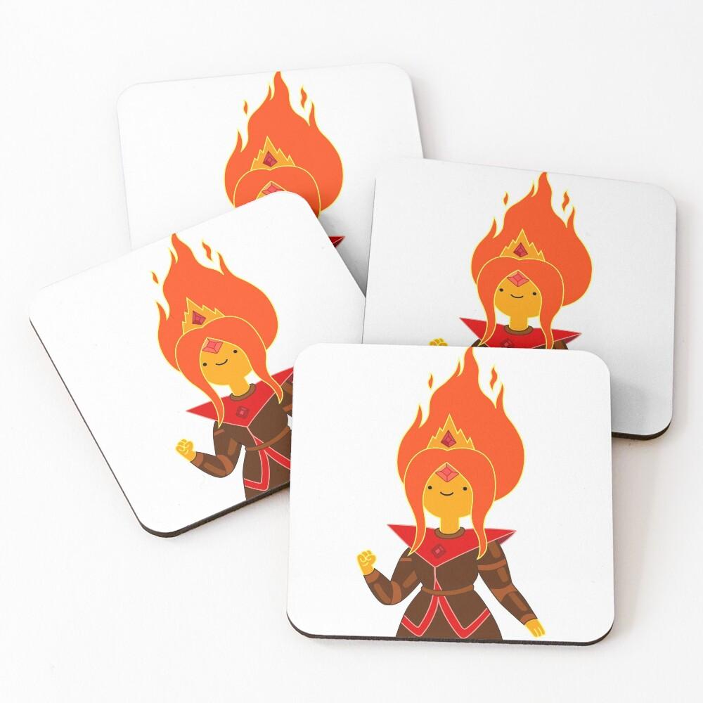 Flame Princess Coasters (Set of 4)
