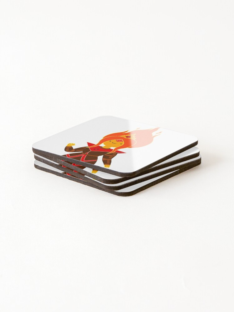 Alternate view of Flame Princess Coasters (Set of 4)