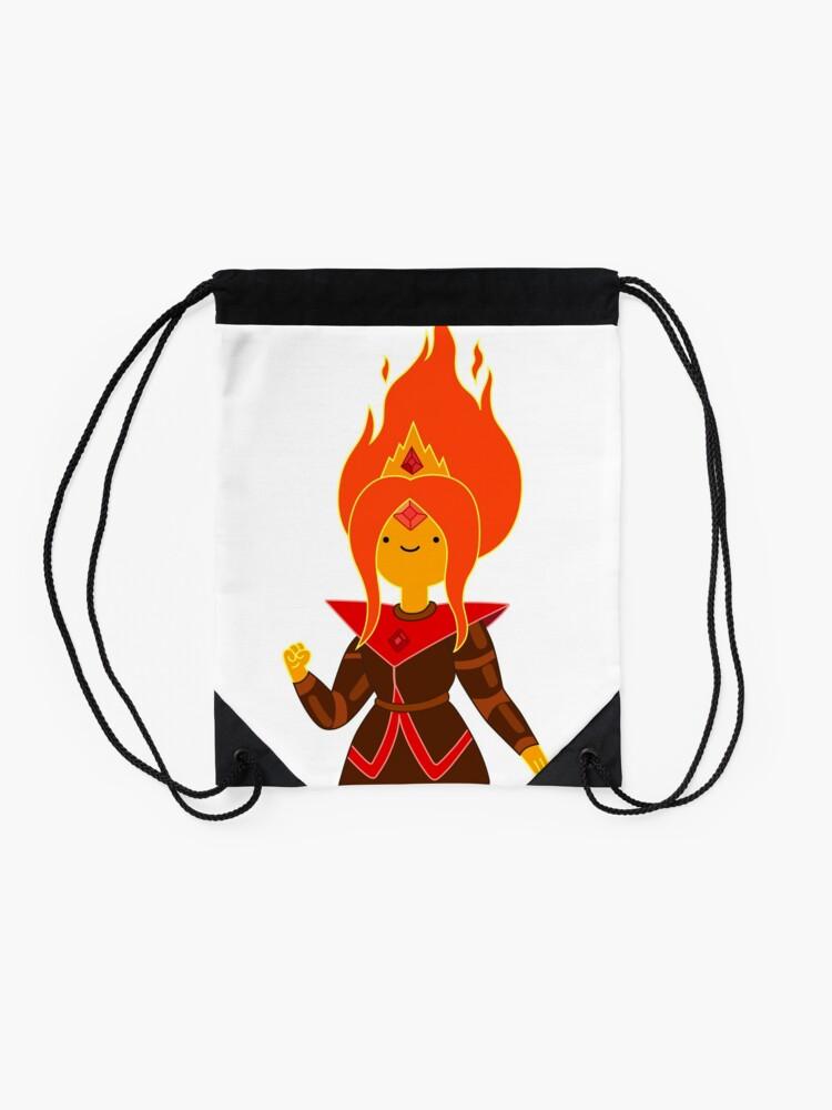 Alternate view of Flame Princess Drawstring Bag