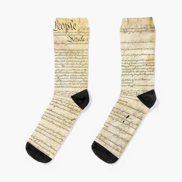 Vintage United States Constitution Socks
