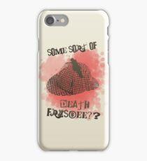Death Frisbee!?  iPhone Case/Skin