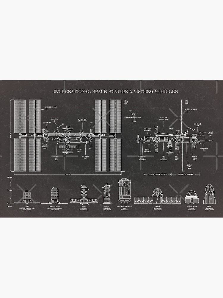 Space Station (ISS) & Visiting Vehicles (Blackboard) by BGALAXY
