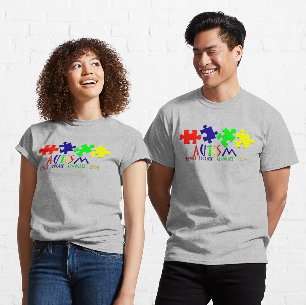 Kids T-Shirt Love Support Advocate Educate Autism