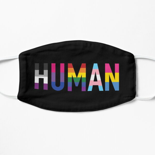Human, Various Queer Flags 1 Flat Mask