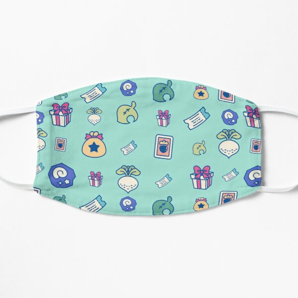 Animal crossing repeating pattern Mask