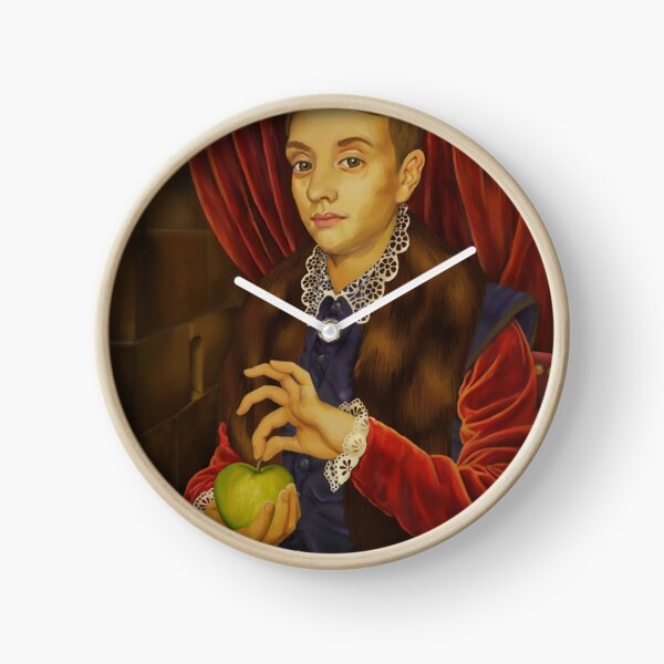 Boy With Apple Clock