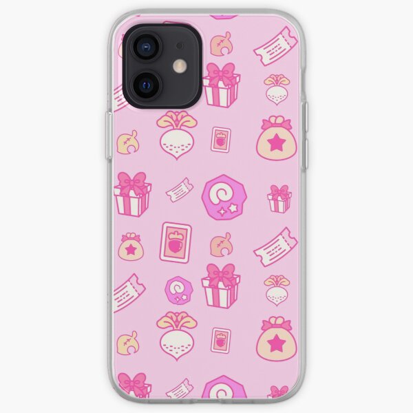 Animal crossing repeating pattern iPhone Soft Case