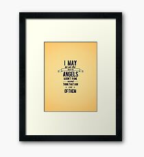 The Side of the Angels Framed Print