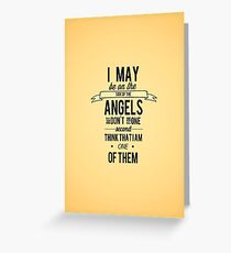 The Side of the Angels Greeting Card