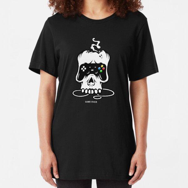 Game Over // Skull Slim Fit T-Shirt