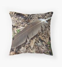 Turkey Vulture Feather - Cathartes aura Throw Pillow