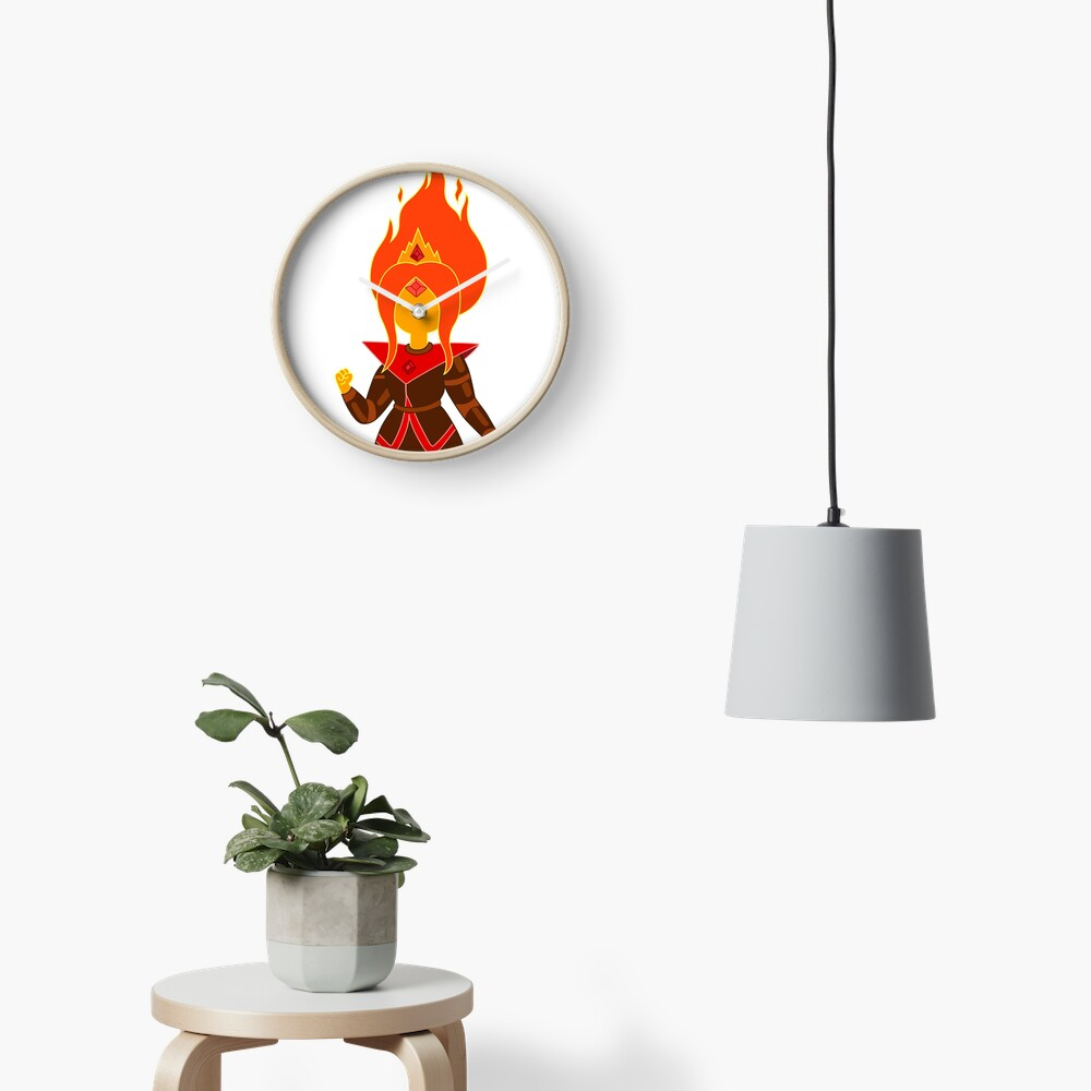 Flame Princess Clock