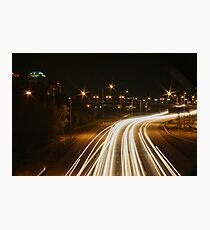 Traffic Trails on I-25 #1 Photographic Print