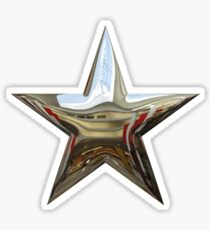 Silver Chrome Star Sticker