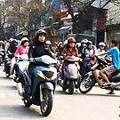 Wrong Way - Hanoi traffic, North Vietnam by Bev Pascoe
