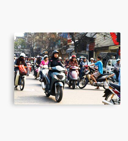 Wrong Way - Hanoi traffic, North Vietnam Canvas Print