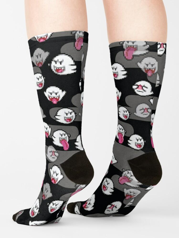 Alternate view of boo ghost - super mario Socks