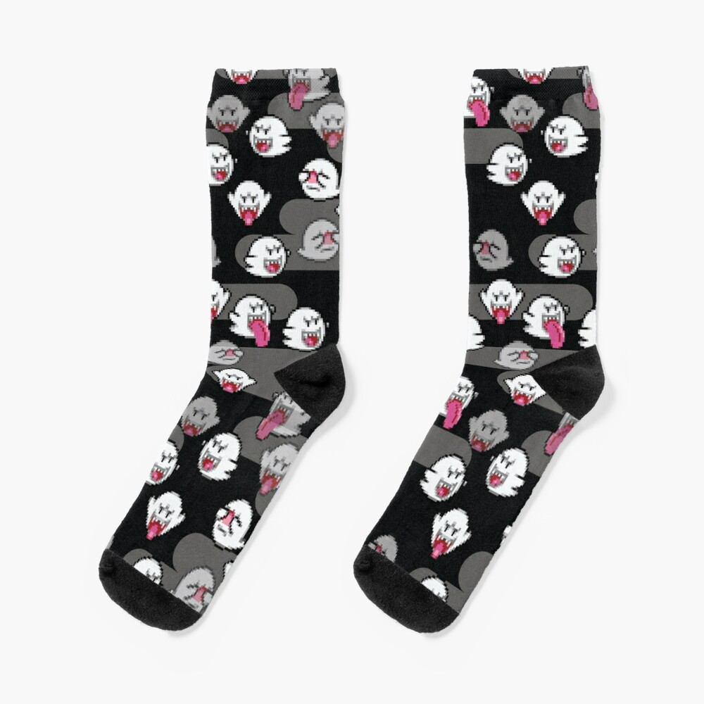 boo ghost - super mario Socks