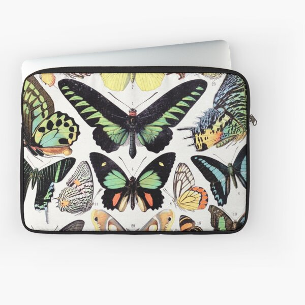 Adolphe Millot - Papillons B - French vintage poster Laptop Sleeve