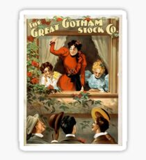 Great Gotham Stock Company Vintage Advertisement	 Sticker