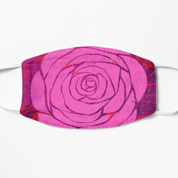 Rose Woodblock Print Mask
