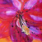 Exotic flower on silk by © Pauline Wherrell